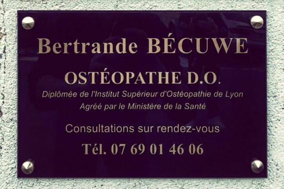 Ostéopathe - Paray-le-Monial - Bertrande Bécuwe