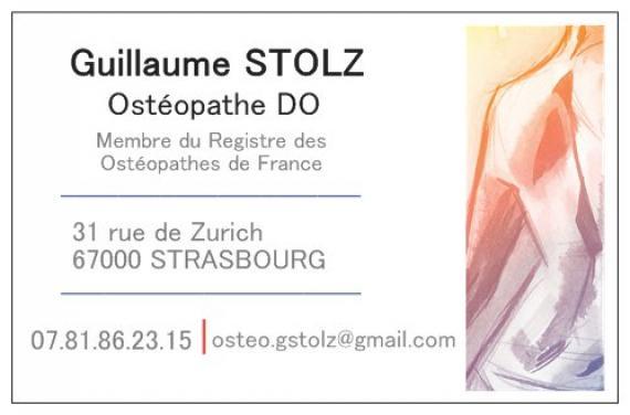 Ostéopathe - Strasbourg - Guillaume Stolz