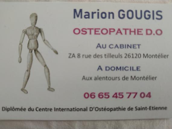 Ostéopathe - Montélier - Marion Gougis