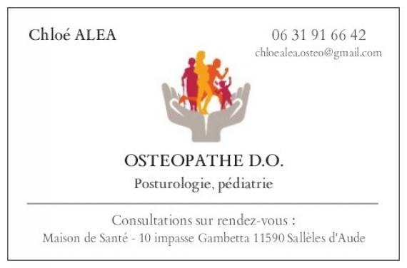 Ostéopathe - Sallèles-d'Aude - Chloé Aléa